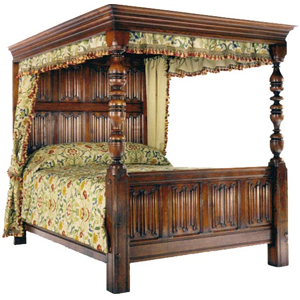Derbyshire Linenfold Bed
