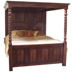 Linenfold Four Poster Bed