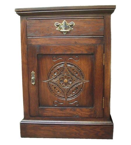 Carved Bedside Cabinet