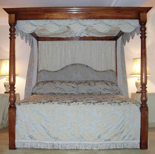 Juniper Upholstered Bed with Drapes