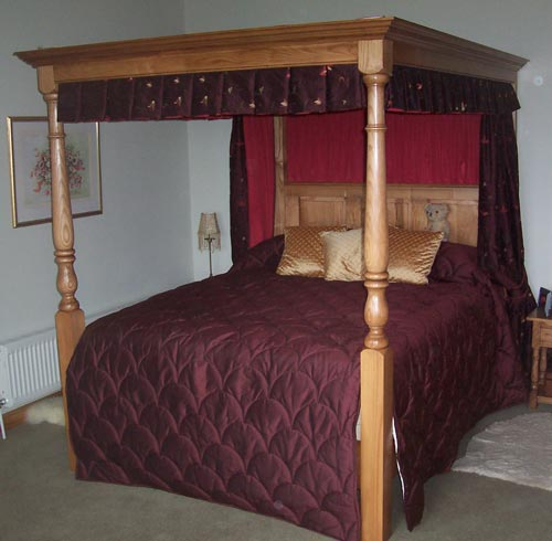 Canopy Style Bed Available For Order In These Wood Colours: Juniper Open Canopy Bed With Wooden Headboard