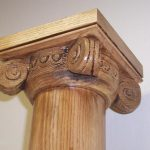 Greek Temple Bed Post