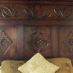 Carved Oak Headboard