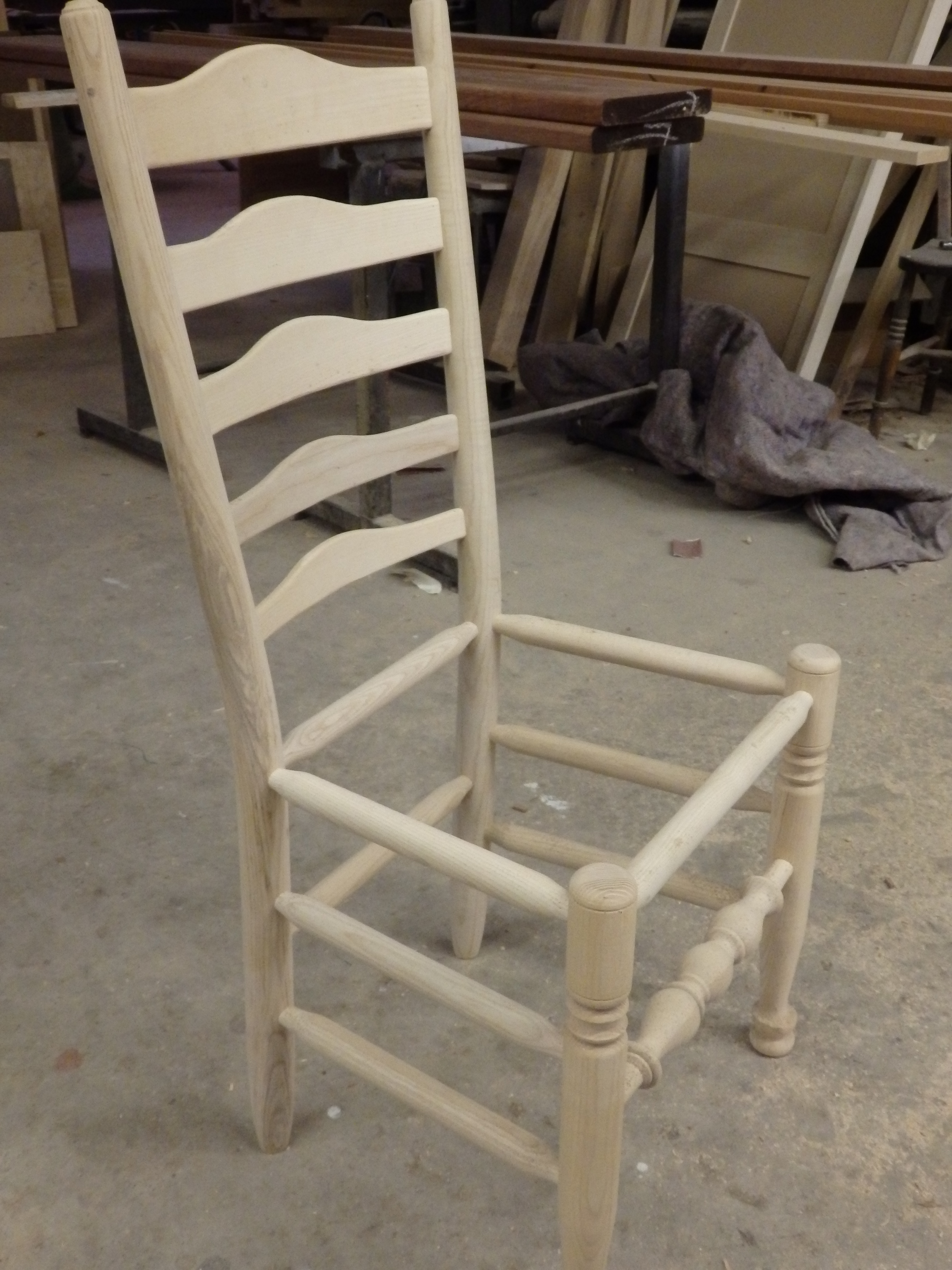 Dining Chair - without finish (Side)