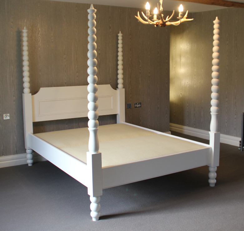 White Bobbin Bed