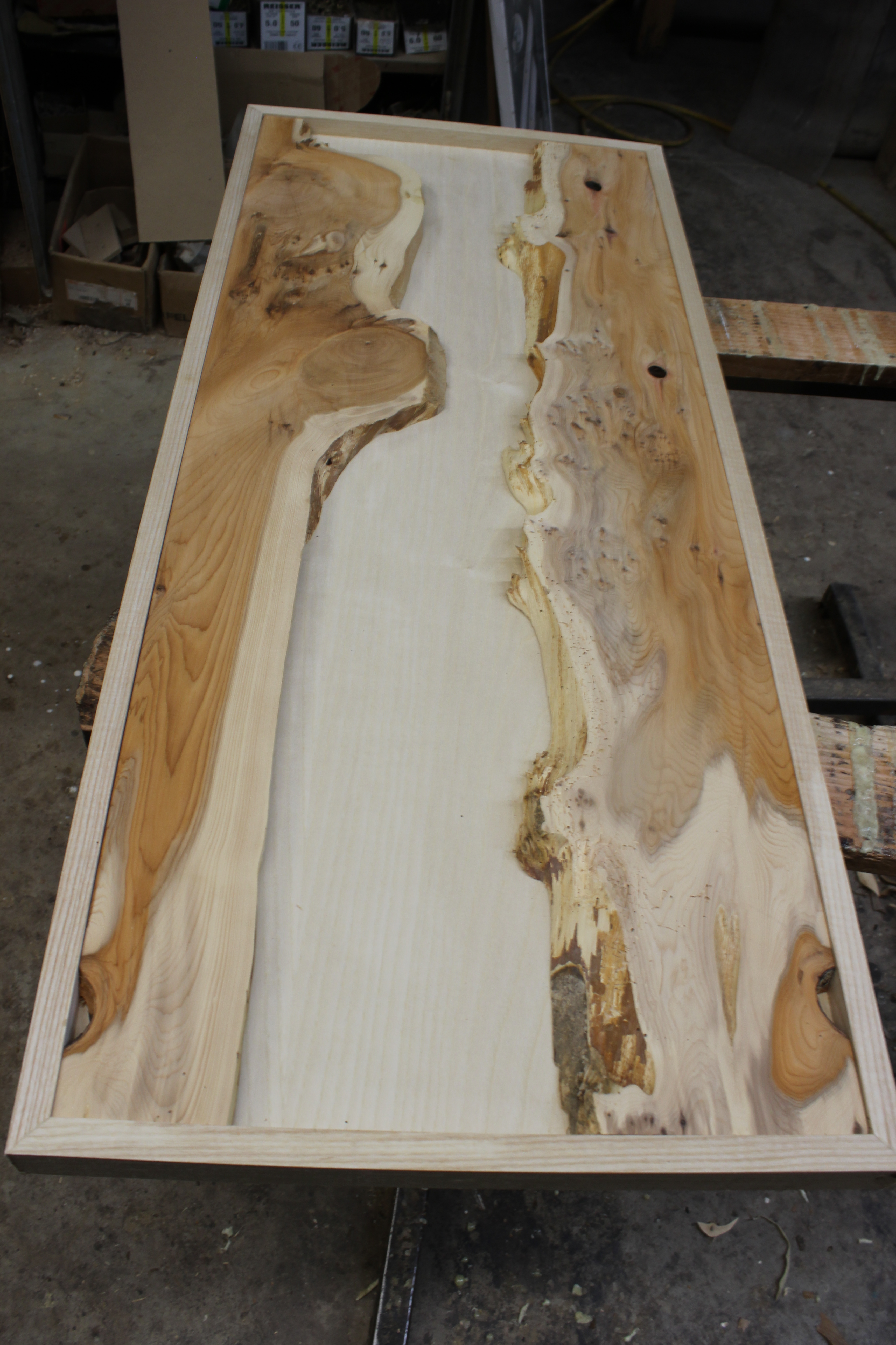 Yew Resin Table - Before