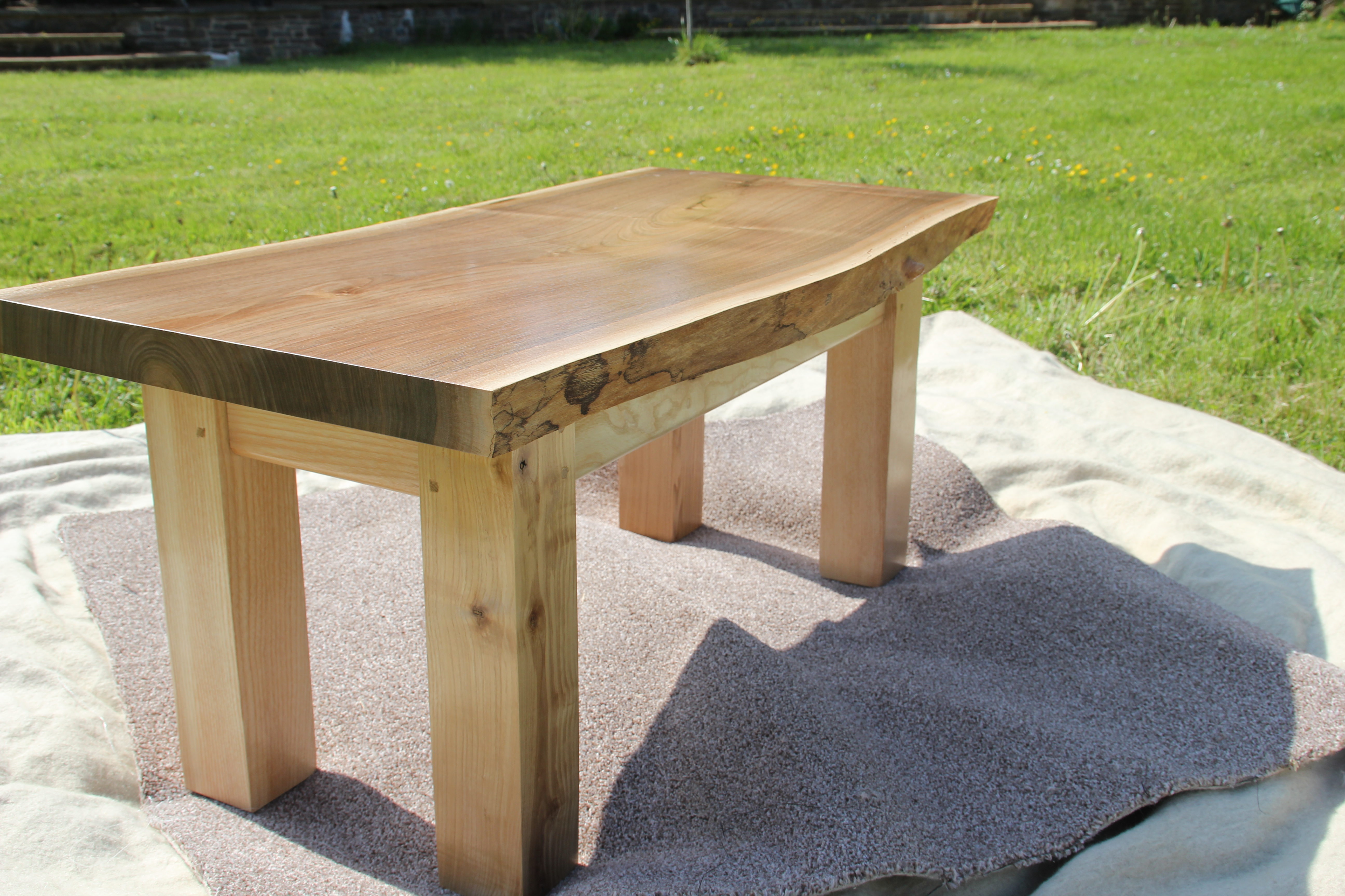 Walnut Table - Side Detail