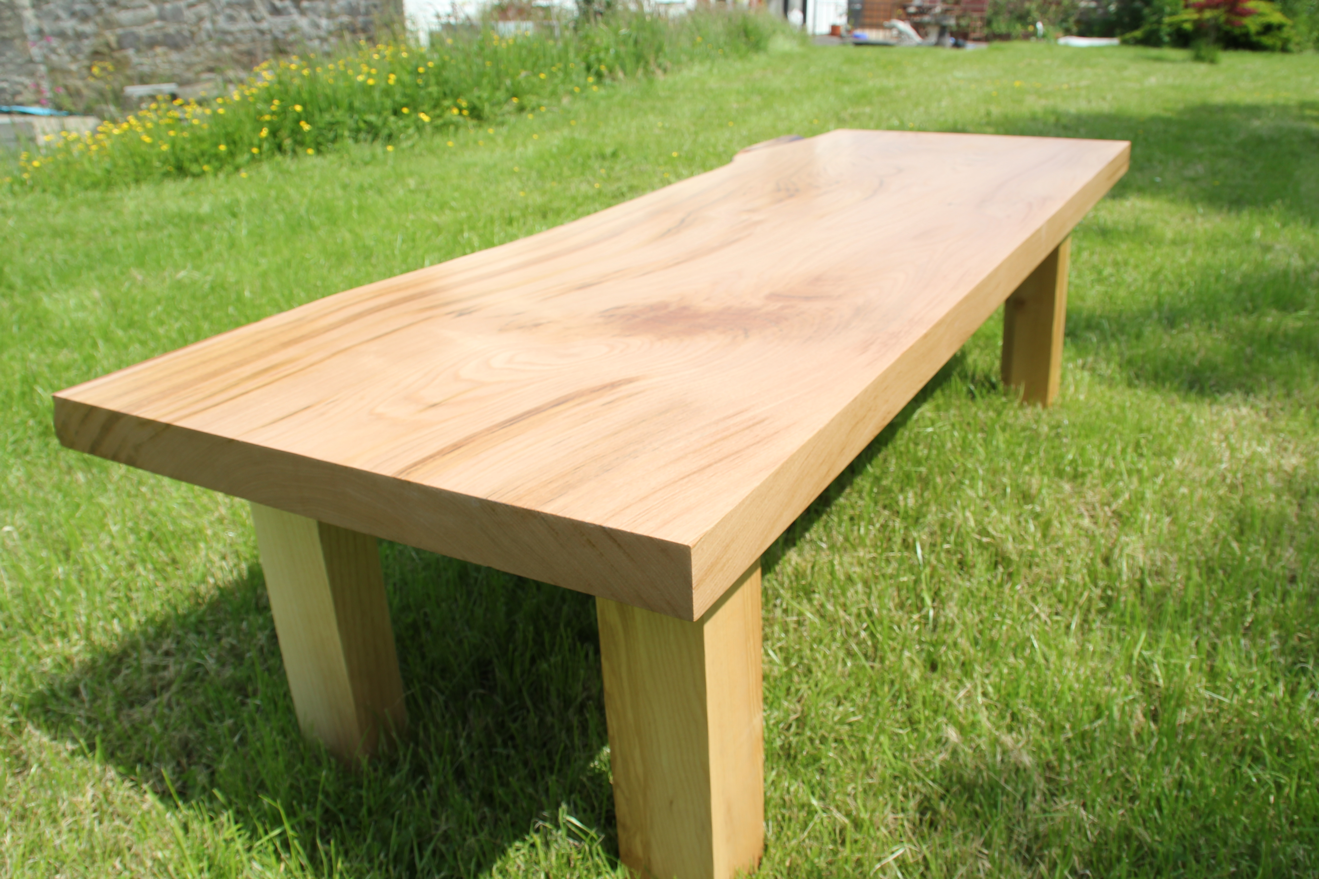 Elm Coffee Table - Straight Edge