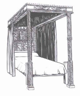 Four Poster bed History 4